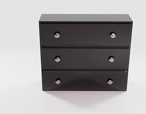 3D Black Cabinet