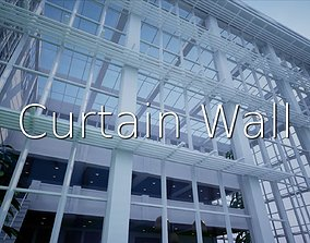 Curtain Wall SHC Quick Office LM 3D model