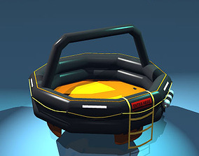 Rescue liferaft set 3D model