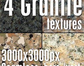 4 High Res Seamless Granite Textures Vol01 part2 3D model