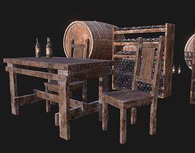 3D asset Wine Cellar Pack