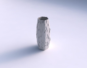 Vase hexagon with cavities 3D print model