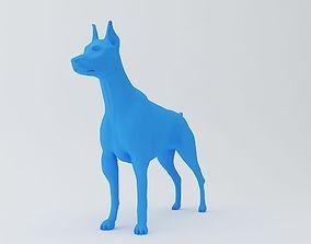 Doberman Pinscher Dog 3D Model