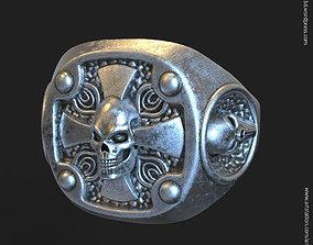 Biker skull vol14 ring jewelry 3D print model