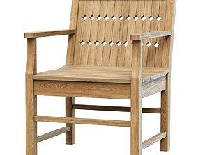Chippendale patio chair 3D model