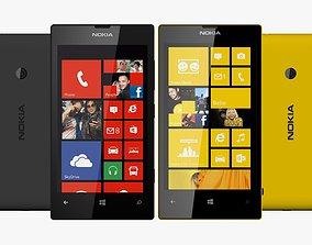 Black and Yellow Nokia Lumia 520 3D Model