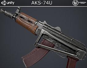 3D model rigged AKS-74U