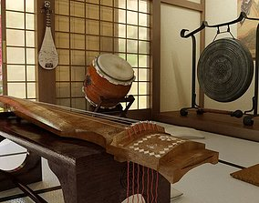 Musical Instruments Collection 3D