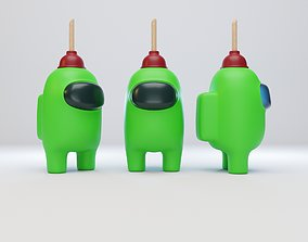 Among Us Plunger Character 3D