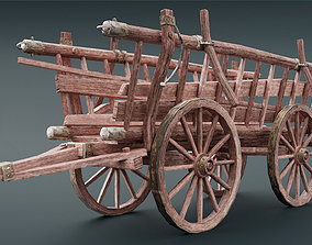 Medieval Cart low 3D model game-ready