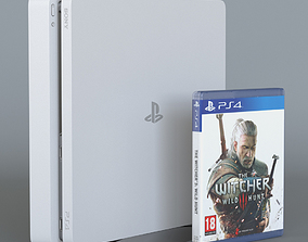 Sony Playstation 4 slim white 3D