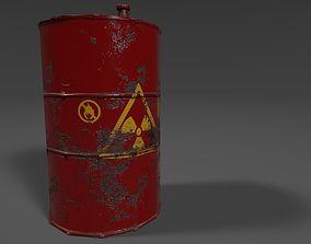 3D model game-ready oil Oil Drum