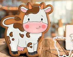 cookie cutter cow bull 3D print model