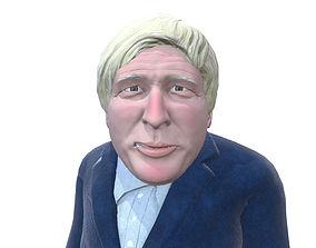 3D asset Boris Johnson caricature