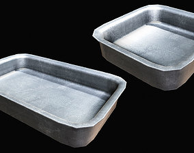Old Industrial Steel Tray 3D asset