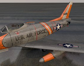 North American F-86H Sabre Hog 3D