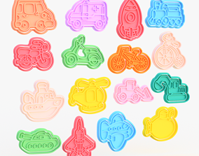 Transport Cookie Cutters set of 16 3D printable model