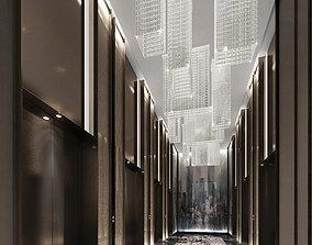 3D hotel elevator hall