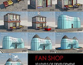 3D asset Fan Shop all 10 Levels