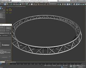 3D print model Circle Triangular Truss Full diameter 400cm