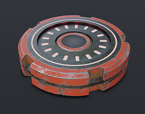 3D model Sci-Fi Future Mech Button Disk