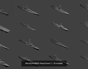 destroyer 3D model Miniature WWII Assortment I