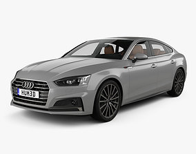 3D model Audi A5 S-line sportback with HQ interior 2017