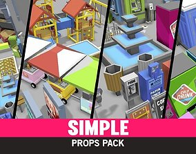 Simple Props - Cartoon Assets realtime