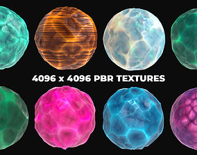8 Stylized and Seamless Crystals PBR Textures and 3D