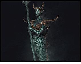 Siren Queen Anemone 3D model quenn