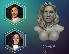 fashion Cardi B 3D model Ready to 3D print