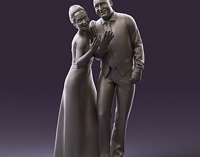 001033 skinhead man in white with woman in dress 3D Print