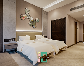 game-ready Hotel Bed Room 3D Interior Design