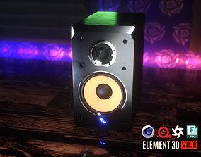 3D asset Bookshelf Studio Monitor Speakers