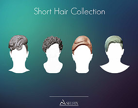 Short Hairstyle Collection 3D