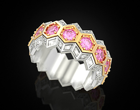 Honeycomb ring 3D print model