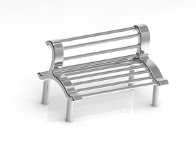 3D printable model Park Seating Bench