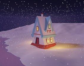 Winter Season Christmas Home 2 3D model