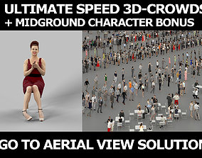 3d crowds and midground Yearn Event Clapping Audience