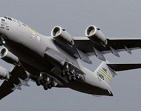 3D asset Boeing C-17 Globemaster III large military 1
