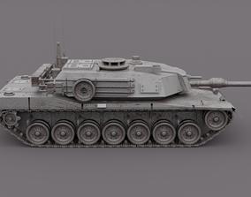 Metallic M1 Abrams Tank 3D
