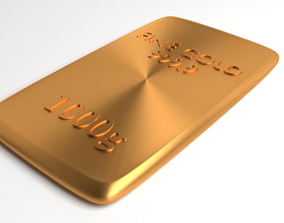 Goldplate 1000gram 3D
