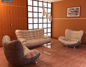 3D model Living Room 05 Set