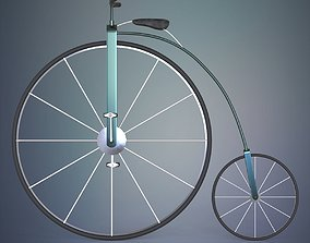 Penny farthing bicycle vehicle 3D model