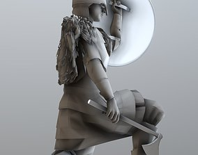 3D print model miniatures Viking with shield