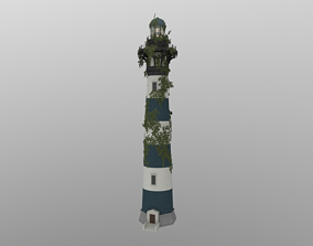 3D model low-poly Abandoned Lighthouse