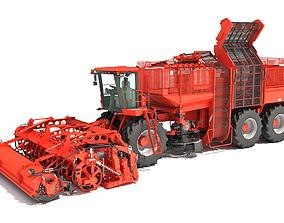 Sugar Beet Harvester Holmer Terra 3D model