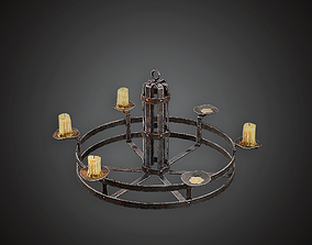 3D asset Candle Chandelier - MVL - PBR Game Ready