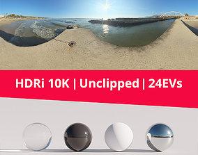 HDRi Sea Bridge and Sun 3D