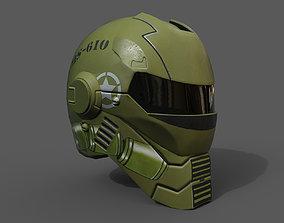 Helmet scifi military combat 3D asset
